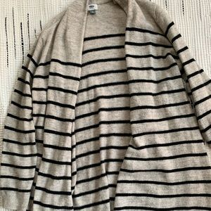 Long Striped Old Navy Cardigan